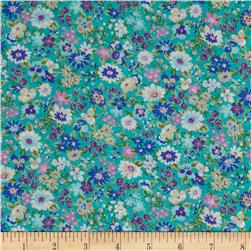 Cosmo Garden Delight Small Floral Lawn Grey
