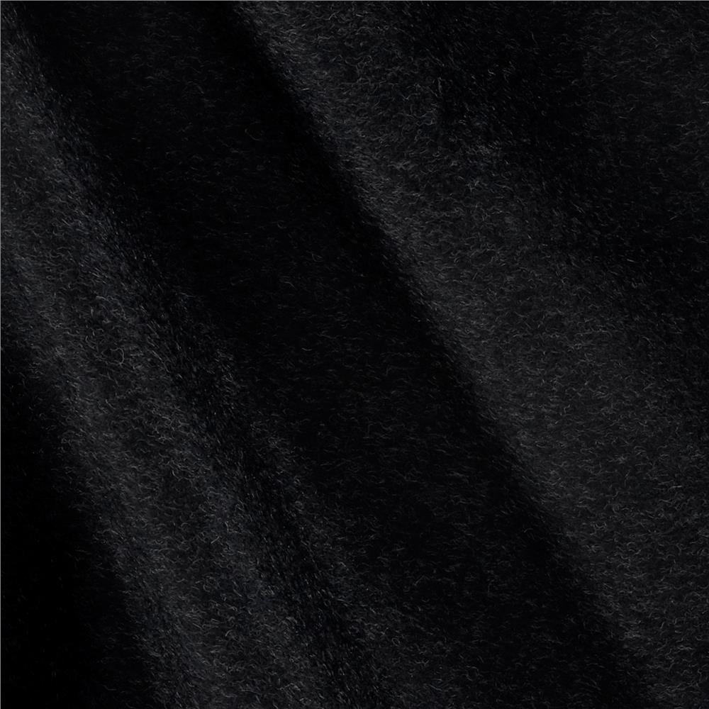 Luxury Wool Cashmere Melton Dark Charcoal