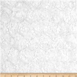 Starlight Meyammy Flower Satin Ivory Fabric