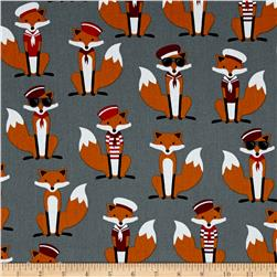 Kaufman Fabulous Foxes Large Sailor Boys Grey