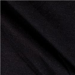 Cotton Interlock Knit Solid Black