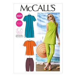 McCall's Misses'/Women's Tunics, Dress, Shorts and Pants Pattern M6758 Size B50