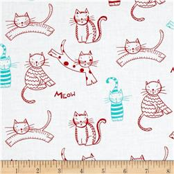 The Cat's Meow Tossed Cats White/Red