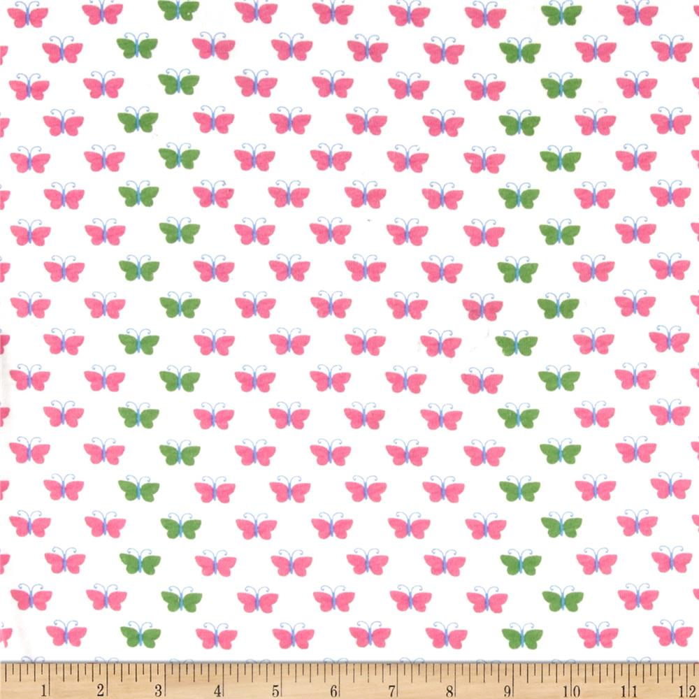 Cotton Blend Jersey Butterfly Pink/Green