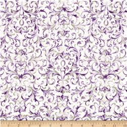 Timeless Treasures Veranda Scroll Cream