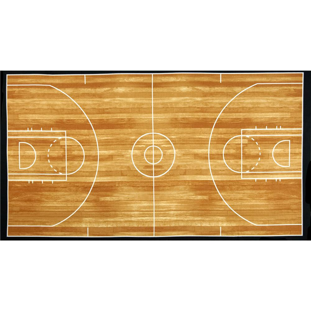 Kaufman sports life basketball court brown 24 in panel for How big is a basketball court