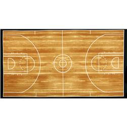 Sports Life 3 Basketball Court Panel Brown Fabric