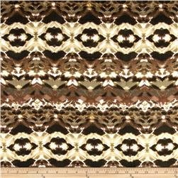 Designer Rayon Gauze Shirting Abstract Brown