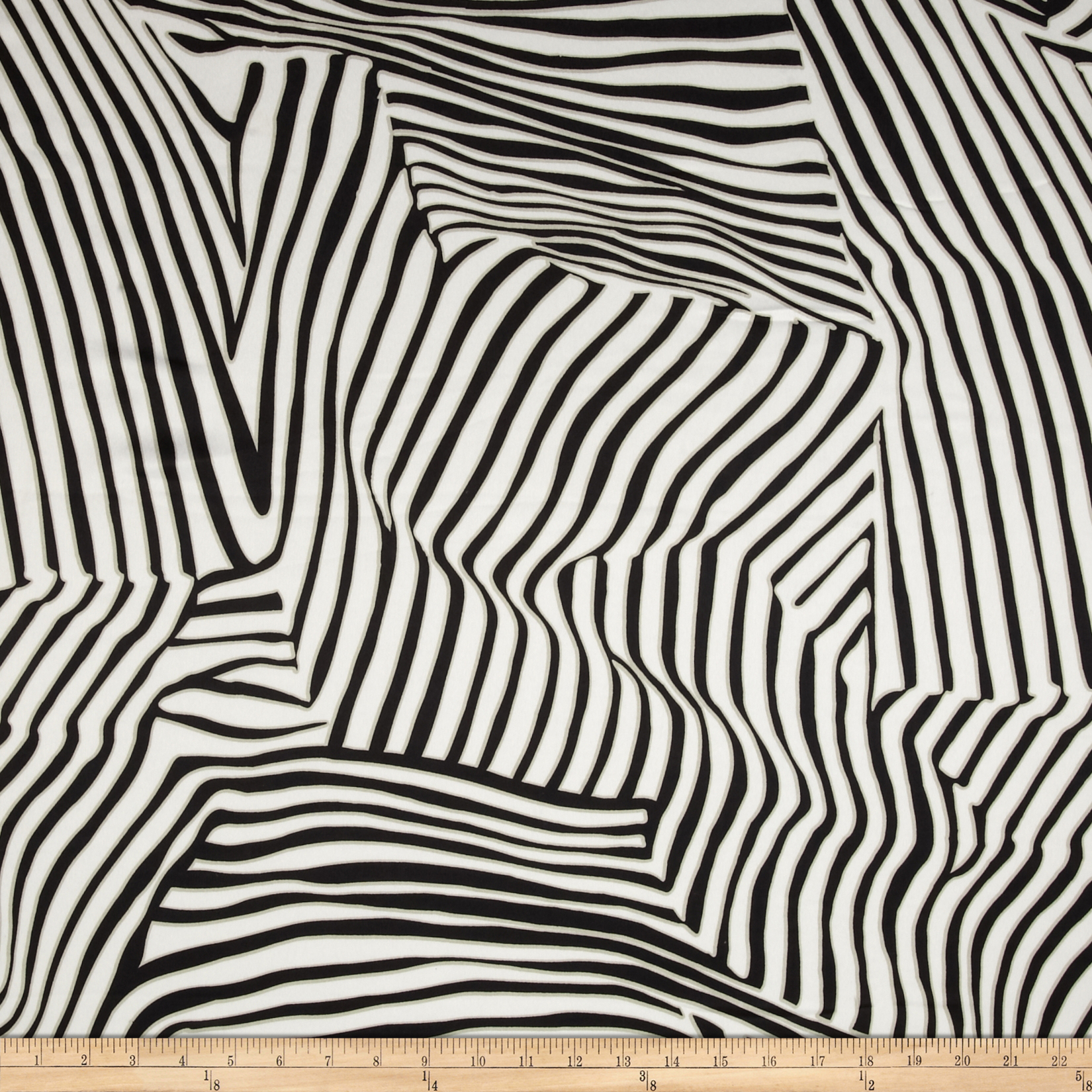 San Tropez Shirting Black/White Fabric