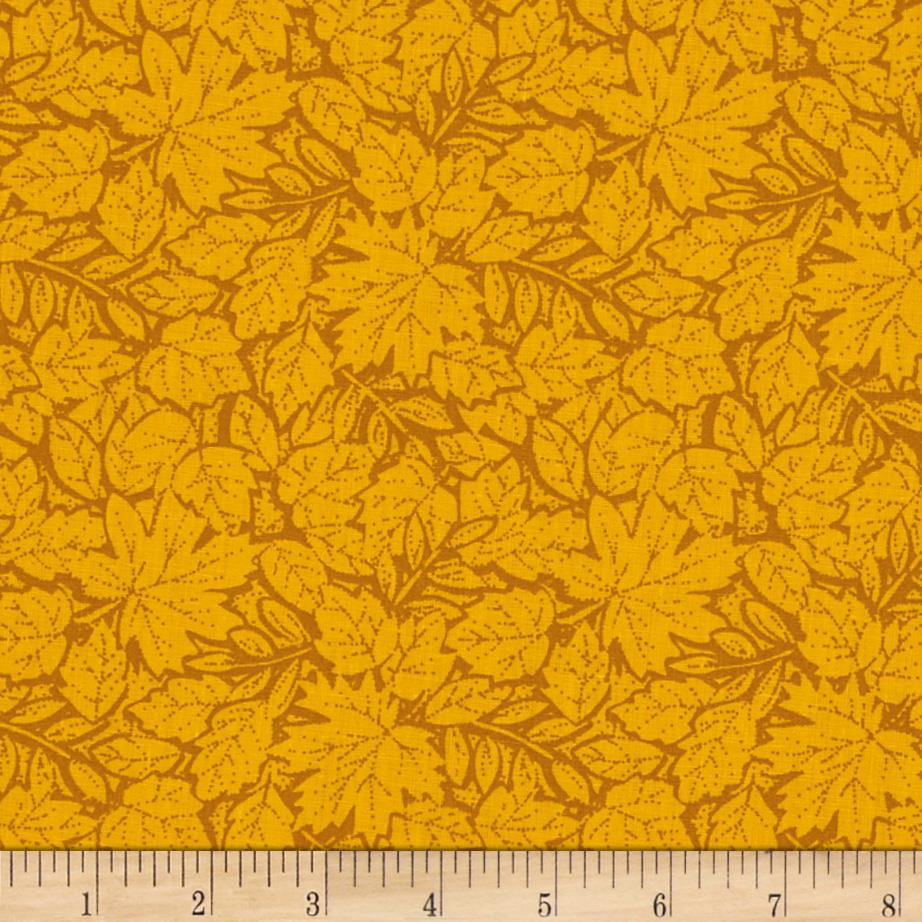 Leaves Tone on Tone Yellow