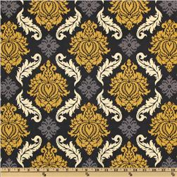 Aviary 2 Damask Granite Fabric
