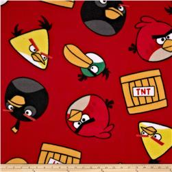 Angry Birds Fleece TNT Red Fabric