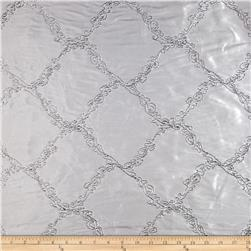 Starlight Affordable Diamonds Embroidered Taffeta Silver