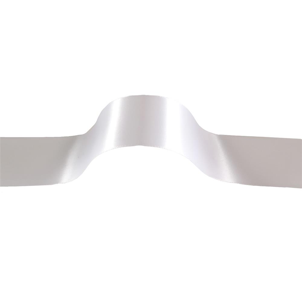 1 1/2'' Offray Double Face Satin Ribbon White