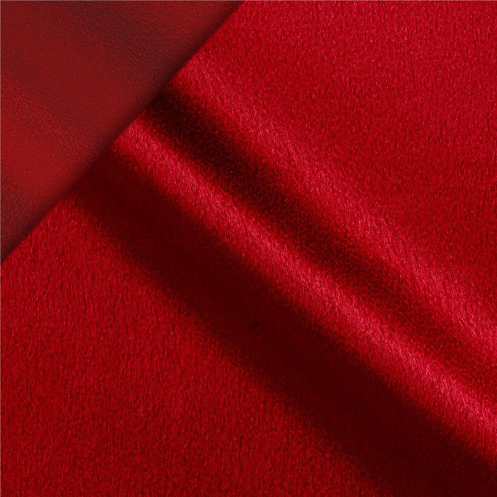 After midnight reversible crepe back satin gypsy red for Satin fabric