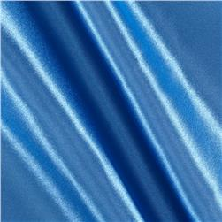 Poly Charmeuse Satin Copenblue Fabric