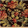 Picasso Rayon Poplin Floral Wine/Rust