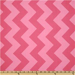 Riley Blake Chevron Large Tonal Hot Pink Fabric
