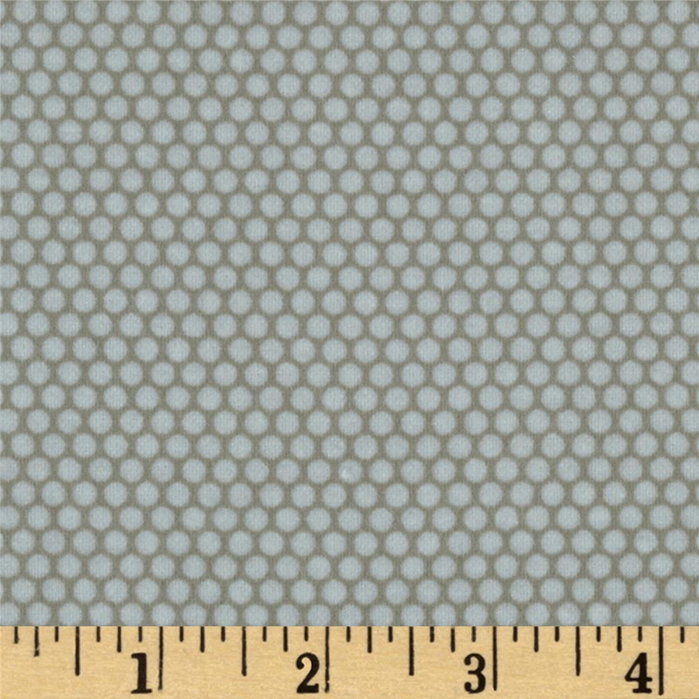 Riley Blake Road Trip Flannel Scenic Dot Grey
