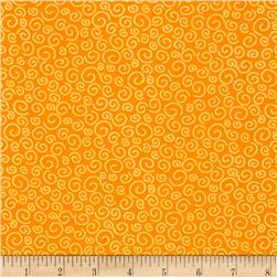 Polka Dot Pond Squiggles Orange