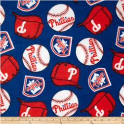MLB Fleece Philadelphia Phillies Red/Blue Fabric