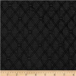 Lattice Quilted Knit Black