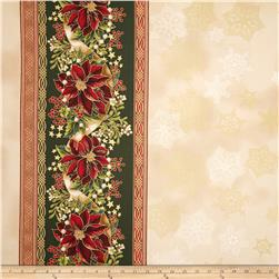 Robert Kaufman Holiday Flourish Metallic 57 In. Wide Double Border Holiday