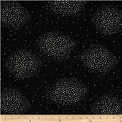 Sparkle & Fade Metallic Scatter Dots Black/Silver