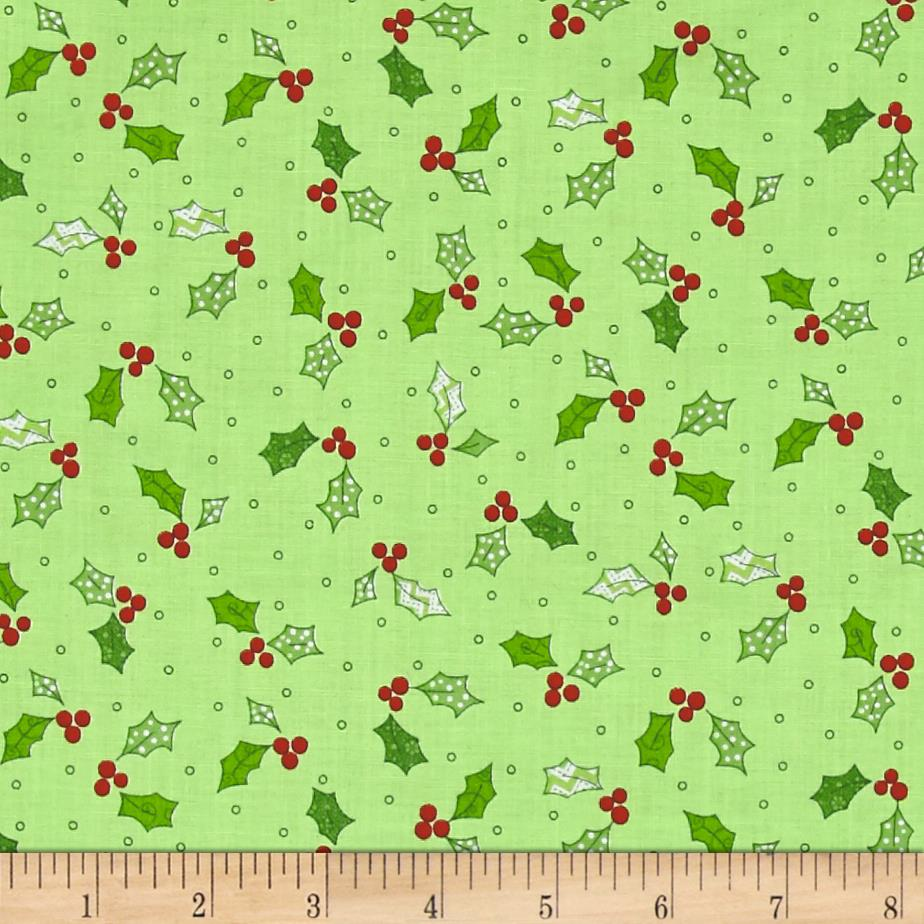 Maywood Studio Jingle All The Way Holly & Berries Green