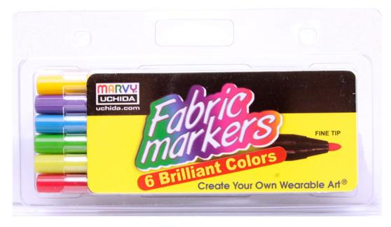 Marvy Uchida Fabric Marker Fine Tip Set Brilliant