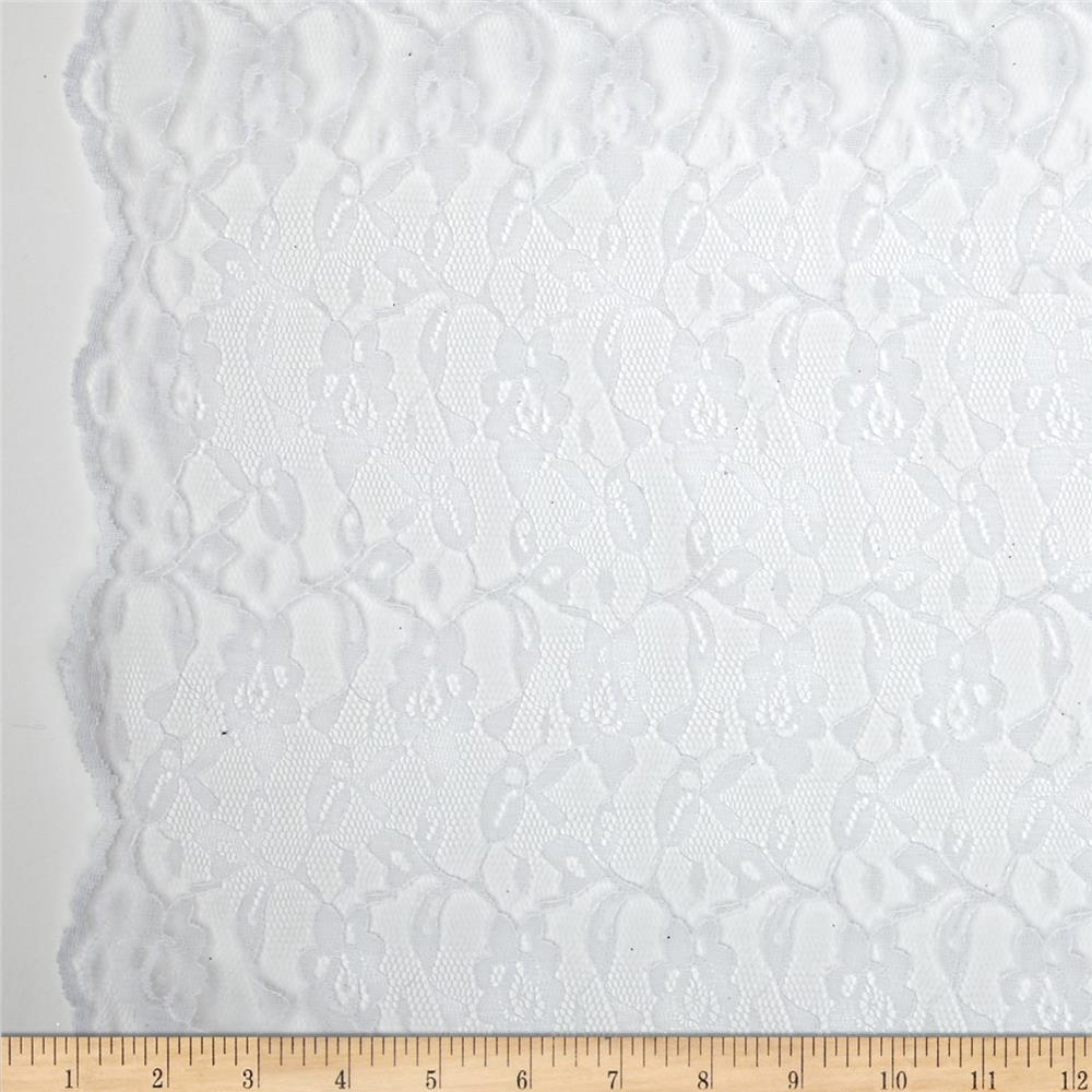 Madonna Floral Lace Netting White