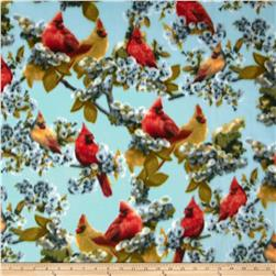 WinterFleece Cardinals Aqua Blue