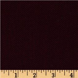 Designer Herringbone Suiting Maroon