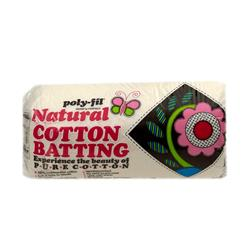 "Fairfield Natural Cotton Batting Queen    90"" X 108"""