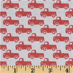 Michael Miller Tiny Trucks Paprika Fabric