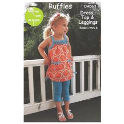 Olive Ann Designs Ruffles Dress, Top & Leggings Pattern