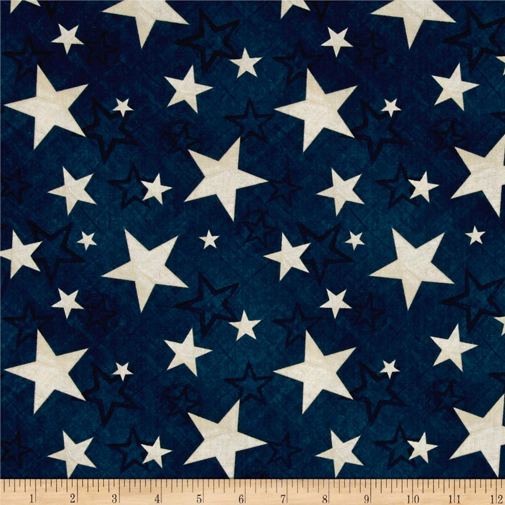 Colors Of Freedom Stars All Over Dark Denim