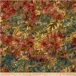 Timeless Treasures Tonga Batik Forest Floor Oakleaf Nature