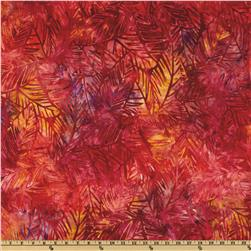Artisan Batik Grove Scattered Leaves Tropical Pink