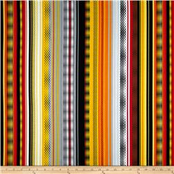 Kanvas Under Construction Stripe Zone Yellow Fabric