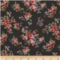 Jonquil Shirting Floral Pink/Green/Grey