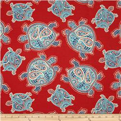 Tommy Bahama Indoor/Outdoor Tranquil Turtles Lava Fabric