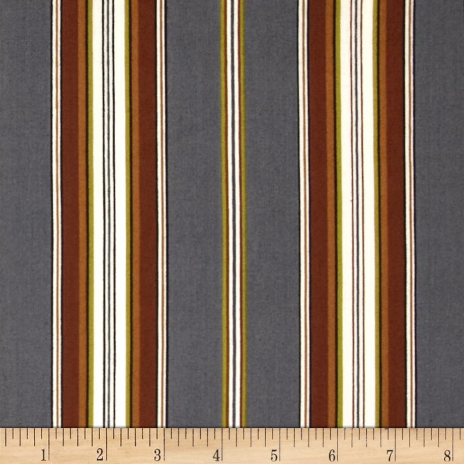 Mayfair Wide Stripe Gray/Natural