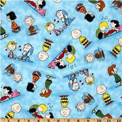 Happiness Is - Peanuts Characters Blue