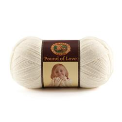 Lion Brand Yarn Pound of Love Antique White