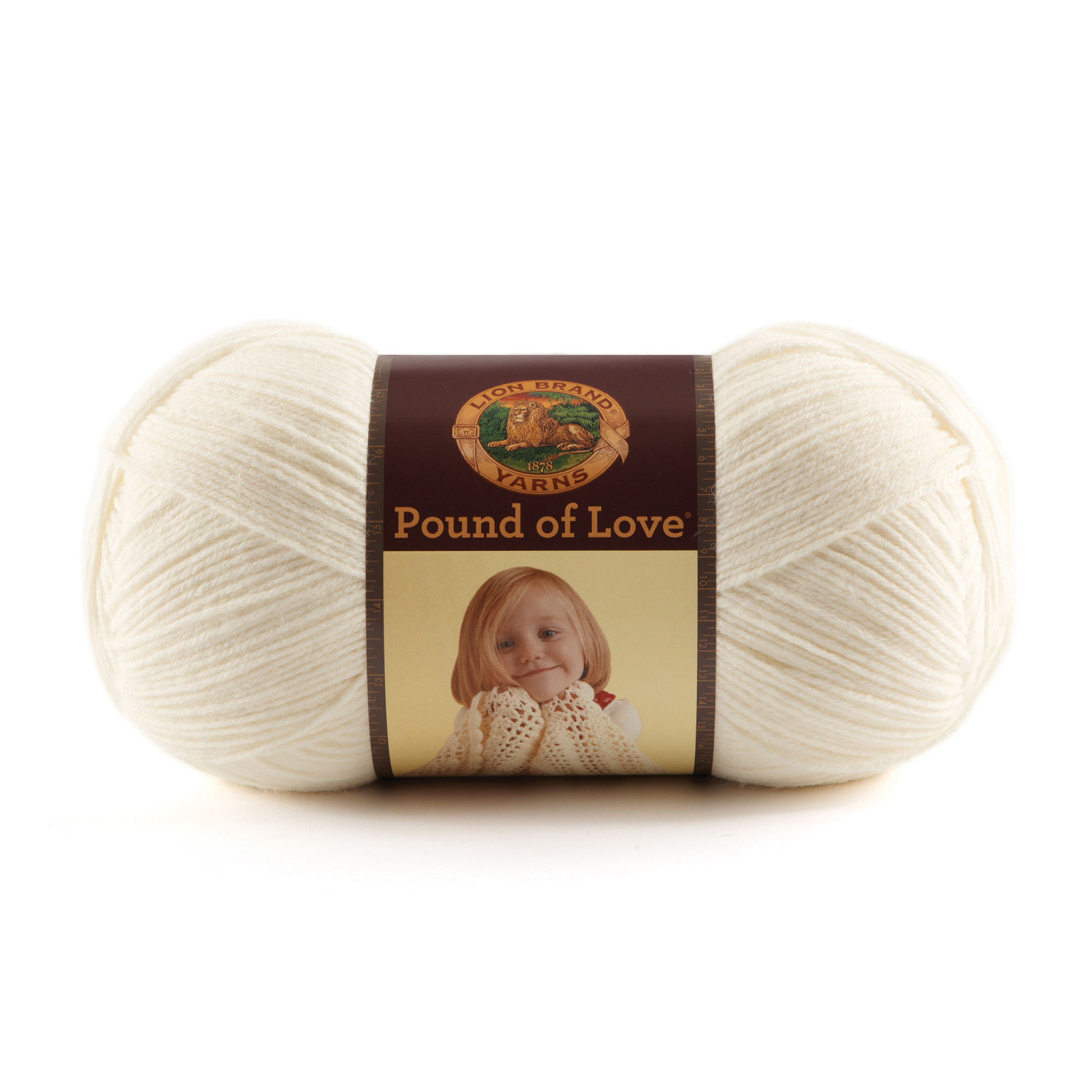Lion Brand Yarn Pound of Love Antique White by Lion in USA