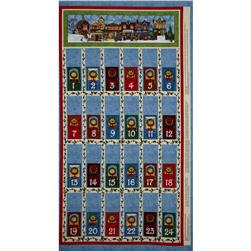 All Around The Town Advent Calendar Panel Blue