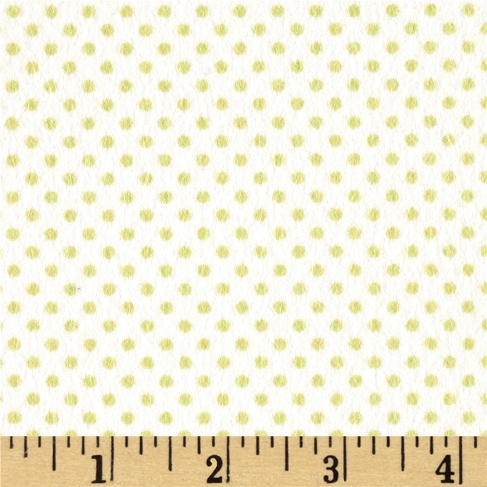 Moda Sweet Baby Flannel Tiny Dot Sprig/Cloud
