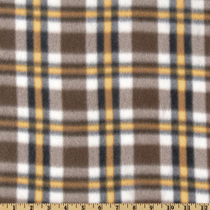 Fleece Plaids Brown/Yellow/Black