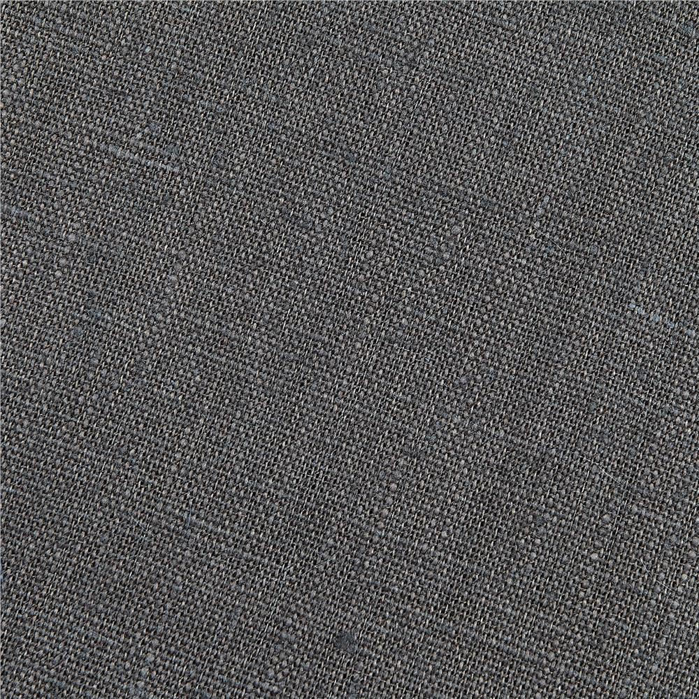 European 100% Washed Linen Charcoal Grey Fabric By The Yard